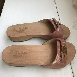 Dr. Scholl's Shoes - Dr. Scholl's wooden slides new w/o tag